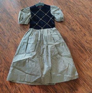 Sylvia Whyte Vintage Girl's Embellished Dress